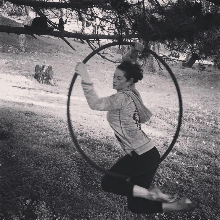 spinning hoop tree